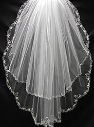 bridal veil sisjuly women s 2t tulle wedding bridal veil with floral beaded