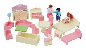 Asda Nursery Furniture Sets George Home Wooden Dolls House And Furniture Bundle Wooden Toys