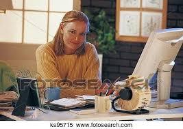 femme bureau banque d image femme dans bureau maison portrait ks95715
