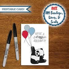 animal pun card printable panda card panda birthday card