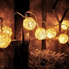 String Ball Lights by 20 Led Warm White Rattan Ball String Fairy Lights For Xmas Wedding