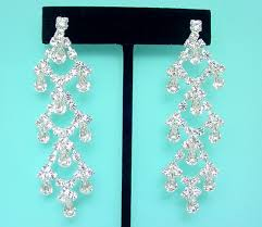 clip on bridal earrings jose and barrera vintage gold plated chandelier clip