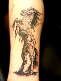 zombie horse secret ink tattoo