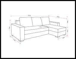 dimension d un canapé delightful canape d angle bicolore 5 dimensions de votre canap233