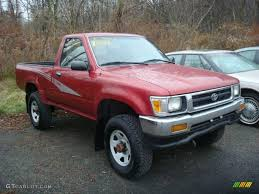 toyota pickup 4x4 1993 red toyota pickup deluxe regular cab 4x4 22684561 gtcarlot