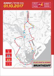 Boston Marathon Course Map by Cardiff Half Marathon Cardiff Wales 10 1 2017 My Best Runs