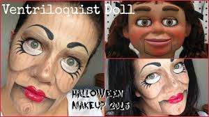 ventriloquist doll halloween makeup 2015 easy tutorial