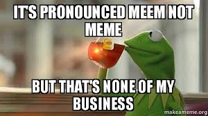 How Is Meme Pronounced - it s pronounced meem not meme but that s none of my business