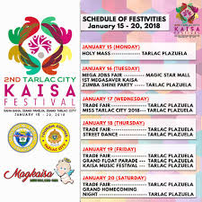the 2nd tarlac city kaisa festival is tarlac city information