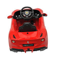 ferrari electric car ferrari f12 kids 6v electric ride on toy car w parent remote