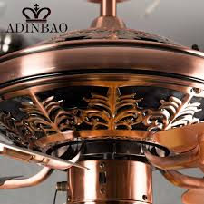 vintage copper ceiling light high quality ceiling fan light wih red antique copper color xj041 in