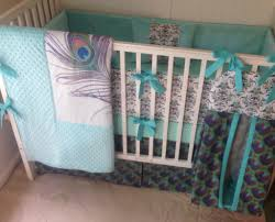 Camo Crib Bedding Pretty As A Peacock Crib Bedding Set I Just Adore Peacocks And