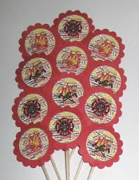 firefighter cupcake toppers friend cupcake toppers party picks item 1000 bff friends