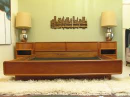 MIDCENTURY DANISH TEAK BED WITH NIGHT STANDS Furniture - Mid century modern danish bedroom furniture