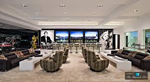 massive basement game room and wet bar in 250 million california