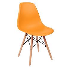 Esszimmerst Le Orange Svita 4er Set Küchenstuhl Esszimmerstuhl Retro Design Schalensitz