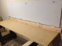 Proper Woodworking Bench Height by Wall Mounted Folding Workbench 6 Steps With Pictures