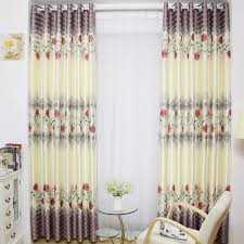 Grey Beige Curtains Decorative Floor Curtains In Beige And Grey Color Polyester Fabric