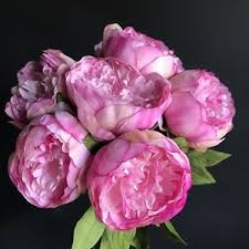 faux peonies bunch of 7 pink peonies artificial luxury faux silk peony flowers