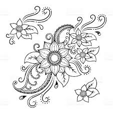 henna tattoo flower templatemehndi stock vector art 545546924 istock
