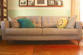 nockeby sofa hack ikea sofa hack using home depot midcentury legs from nurani