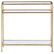 Glass Console Table Home Decorators Collection Aged Gold Narrow Glass Console