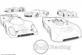 gulf racing cars coloring free printable coloring pages