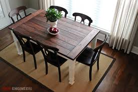 build a rustic dining room table diy farmhouse table free plans rogue engineer