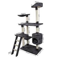 Large Cat Scratching Post Cat Tree Scratching Post Scratcher Pole Gym Toy House Furniture