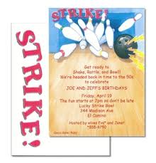 invitations sports golf bowling invitation cardstock strike bowling