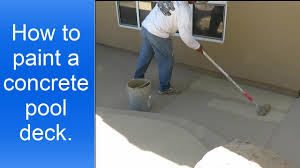 Removing Paint From Concrete Steps by How To Paint A Concrete Pool Deck Youtube
