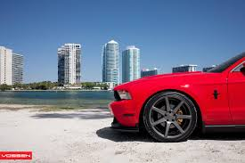 Black Mustang With Red Stripes Red Ford Mustang With Black Stripes On Vossen Wheels Gallery