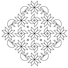 Rangoli Coloring Pages Images Printable  btteme