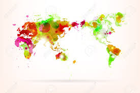 Vector World Map Vector World Map Creative With Splash Of Color And Light Effects