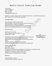 Field Technician Cover Letter Lab Technician Resume Template Examples