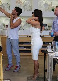 kim kardashian leaves her bridal shower dress on with mum kris