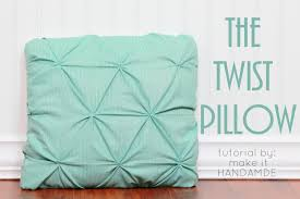 How To Make Sofa Pillow Covers Twist Pillow Tutorial