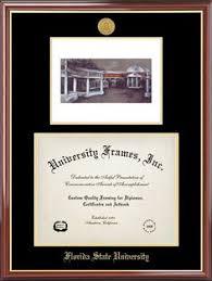 fsu diploma frame florida state diploma frame this black satin fsu