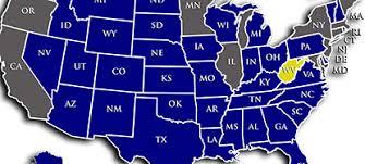 pa carry permit reciprocity map virginia reciprocity map virginia map