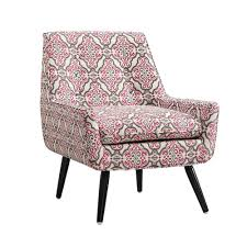 linon home decor trelis eagle pink u0026 gray polyester arm chair