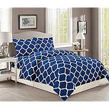 Blue Duvet Amazon Com Printed Duvet Cover Set Brushed Velvety Microfiber