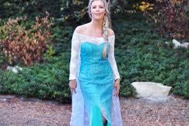 frozen diy elsa costume before look w short dress love
