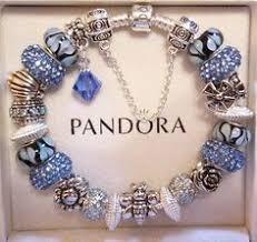 pandora bracelet charms sterling silver images Authentic pandora sterling silver charm bracelet blue crystal jpg