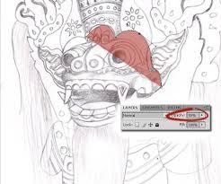 tutorial masking photoshop indonesia drawing a balinese barong mask photoshop tutorial thinkr me