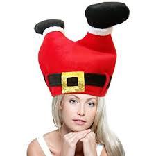 Funny Costumes Adults U0026 Kids Amazon Funny Christmas Hat Santa Hat Red Christmas Pants Cap