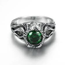 stone vintage rings images Vancaro oxidized silver vintage ring with green stone for women jpg