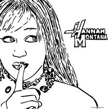 hannah montana free coloring pages on art coloring pages