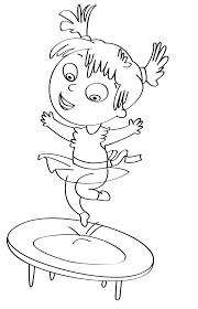 tappeto disegno disegno per bambini da colorare gratis bambina tappeto elastico