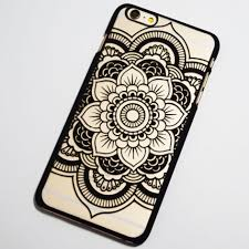 black henna flower iphone 6 plus 6s plus hard case boho chic