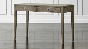 reclaimed wood writing desk morris 48 ash grey writing desk reviews crate and barrel